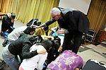 Pastor Bill Devlin with the congregation during service at Manhattan Bible Church/Iglesia Biblica de Manhattan in Manhattan, New York on Sunday, January 30, 2011.