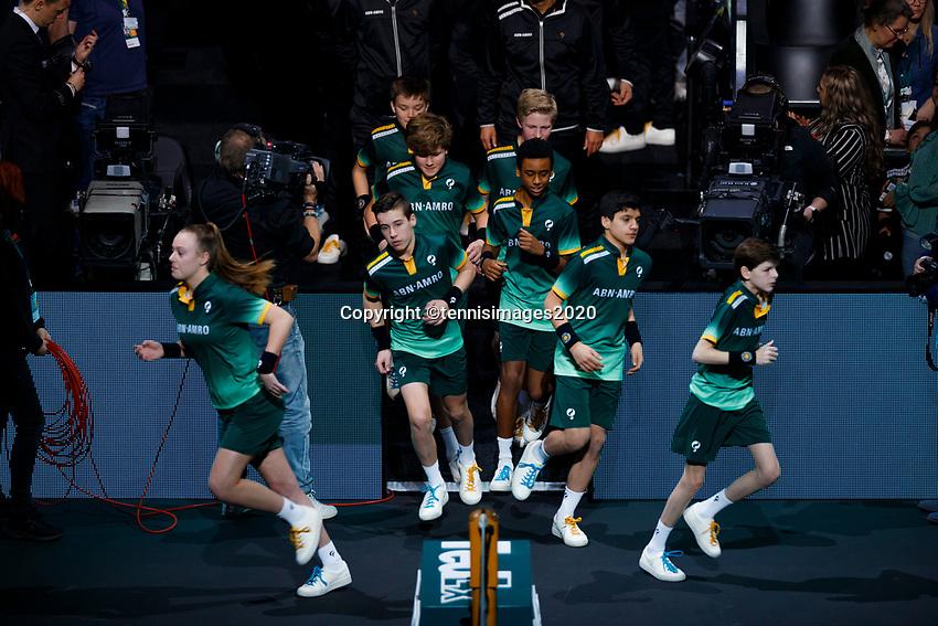 Rotterdam, The Netherlands, 15 Februari 2020, ABNAMRO World Tennis Tournament, Ahoy,<br /> Gaël Monfils (FRA), Filip Krajinovic (SRB).<br /> Photo: www.tennisimages.com