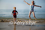 Enjoying the water in Derrymore beach on Monday evening, l to r: Jack and Jean Maguire from Castleisland.