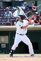 Jeff Boehm (29) of the Inland Empire 66ers bats against the Rancho Cucamonga Quakes at San Manuel Stadium on April 27, 2016 in San Bernardino, California. Rancho Cucamonga defeated Inland Empire, 2-1. (Larry Goren/Four Seam Images)