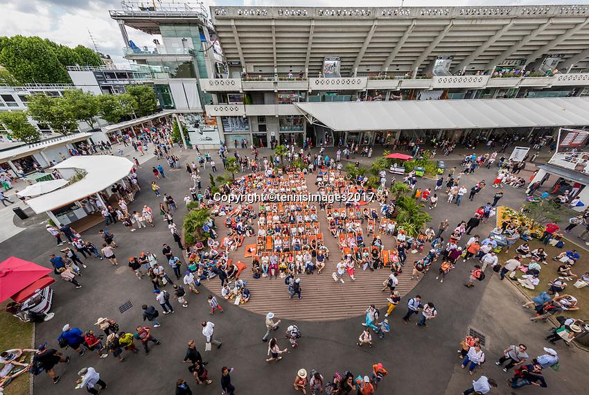 Paris, France, 5 June, 2017, Tennis, French Open, Roland Garros,  ambiance<br /> Photo: Henk Koster/tennisimages.com
