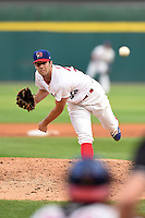 Buffalo Bisons pitcher Daniel Norris (38) delivers a pitch during a game against the Pawtucket Red Sox on August 26, 2014 at Coca-Cola Field in Buffalo, New  York.  Pawtucket defeated Buffalo 9-3.  (Mike Janes/Four Seam Images)