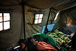 Kiev, Ukraine - 03 december 2013: As in 2004, tents have been built on Maidan, the independence square. People can go there to sleep, eat or heat themselves. Credit: Niels Ackermann / Rezo.ch