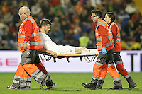 England's Michael Carrick injured during international friendly match. November 13,2015.(ALTERPHOTOS/Acero)