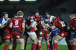 Scarlets flanker Josh Turnbull finds Aled Davies in support..Scarlets v Connacht.Parc y Scarlets.Rabo Pro12.08.02.13.©Steve Pope-SPORTINGWALES