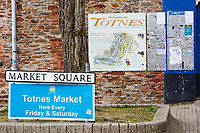 Market Square in Totnes, England, UK. Wednesday 14 April 2021