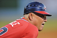 Rome Braves manager Randy Ingle #12 during game two of the South Atlantic League, Southern Division playoffs against the Asheville Tourists at McCormick Field on September 7, 2012 in Asheville, North Carolina . The Tourists defeated the Braves 6-2. (Tony Farlow/Four Seam Images).