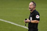 Match referee, Mr Robert Lewis during Gillingham vs Charlton Athletic, Sky Bet EFL League 1 Football at the MEMS Priestfield Stadium on 21st November 2020