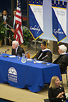 """Former President Jimmy Carter visited Illinois College in Jacksonville, Ill., in honor of the new """"Pathways to Peace"""" initiative created by school benefactor Dr. Khalaf Al Habtoor. Faculty and students will study ways to bring about peace in the Middle East."""