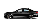 Car driver side profile view of a 2018 BMW 5 Series base 4 Door Sedan