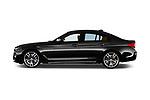 Car driver side profile view of a 2018 BMW 5 Series base 4 Door Sedan