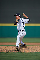 Detroit Tigers pitcher Jason Foley (24) during a Florida Instructional League game against the Pittsburgh Pirates on October 16, 2020 at Joker Marchant Stadium in Lakeland, Florida.  (Mike Janes/Four Seam Images)