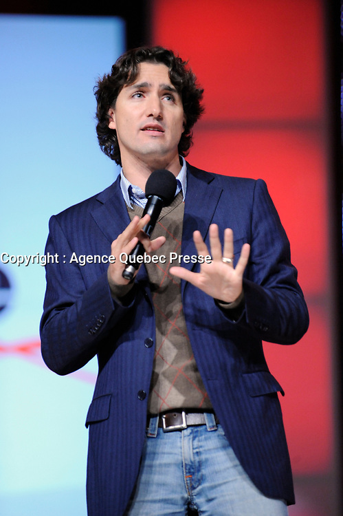 October 208 File Photo - Toronto (Ontario) CANADA - Justin Trudeau speak at  Free The Children's Me To We Day
