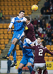 St Johnstone v Hearts…23.12.17…  McDiarmid Park…  SPFL<br />Joe Shaughnessy's header is aved b y Jon McLaughlin<br />Picture by Graeme Hart. <br />Copyright Perthshire Picture Agency<br />Tel: 01738 623350  Mobile: 07990 594431
