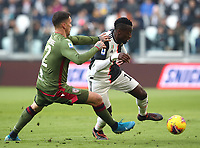 Calcio, Serie A: Juventus - Cagliari, Turin, Allianz Stadium, January 6, 2020.<br /> Juventus' Blaise Matuidi (r) in action with Cagliari's Fabrizio Cacciatore (l) during the Italian Serie A football match between Juventus and Cagliari at Torino's Allianz stadium, on January 6, 2020.<br /> UPDATE IMAGES PRESS/Isabella Bonotto