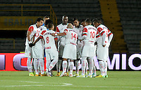 BOGOTÁ -COLOMBIA, 15-01-2015. Jugadores de Cortulua antes del  partido Union Magdalena y Cortulua, por la fecha 3 de los Cuadrangulares de Ascenso Liga Aguila 2015 jugado en el Estadio Nemesio Camacho El Campin de la ciudad de Bogotá.  / Players of Cortulua before the match Union Magdalena and Cortulua for the date 3 of the Promotional Quadrangular Liga Aguila 2015 played at Nemesio Camacho El Campin Stadium in Bogotá city. Photo: VizzorImage/ Luis Ramirez / Staff