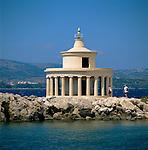 Greece, Cephalonia (Ionian island), Argostoli: Agios Theodoros Lighthouse | Griechenland, Kefalonia (Ionische Insel), Argostoli: Agios Theodoros Leuchtturm
