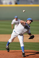 April 3 2010: Dan Klein of the UCLA Bruins during game against the Stanford Cardinal at UCLA in Los Angeles,CA.  Photo by Larry Goren/Four Seam Images