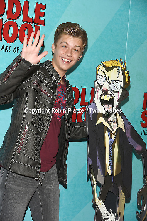 """actor Jacob Hopkins  attends the """"Middle School: The Worst Years of My Life"""" New York Screening on October 1, 2016 at the Regal E-Walk in New York, New York, USA.<br /> <br /> photo by Robin Platzer/Twin Images<br />  <br /> phone number 212-935-0770"""