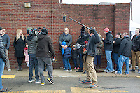 """Documentary crew records customers waiting in line for the opening of Holy Chicken, a fast food restaurant started by Morgan Spurlock.  <br /> <br /> Morgan Spurlock opens """"Holy Chicken,"""" a faux fast food restaurant in Columbus, Ohio, where a documentary crew recorded his interaction with customers who thought they were dining at a new type of fast food restaurant. However, the entire location was designed to be part of his documentary highlighting the marketing of food that may not be as healthy as it is stated in advertisement, banners, and notices at the restaurant."""