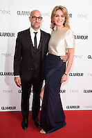 Stanley Tucci and wife, Felicity Blunt<br /> arrives for the Glamour Women of the Year Awards 2016, Berkley Square, London.<br /> <br /> <br /> ©Ash Knotek  D3130  07/06/2016