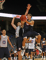 Aaron Craft handles the ball during the 2009 NBPA Top 100 Basketball Camp held Friday June 17- 20, 2009 in Charlottesville, VA. Photo/ Andrew Shurtleff