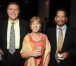 From left: Jim and Sharon Gormanson with Antony DSouza at the OTC Annual Dinner at the George R. Brown Convention Center Sunday April 29,2012. (Dave Rossman Photo)