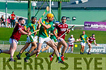 during the Kerry County Senior Hurling Championship Final match between Kilmoyley and Causeway at Austin Stack Park in Tralee