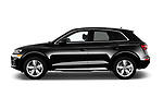 Car driver side profile view of a 2018 Audi Q5 Prestige 5 Door SUV