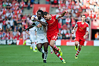 Sun 06 October 2013 Pictured:( L-R )  Wilfried Bony and Dejan Lovren Re: Barclays Premier League Southampton FC  v Swansea City FC  at St.Mary's Stadium, Southampton