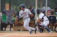 Detroit Tigers Lazaro Benitez (73) at bat during an Instructional League instrasquad game on September 20, 2019 at Tigertown in Lakeland, Florida.  (Mike Janes/Four Seam Images)