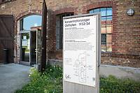 """Die Gedenkstaette KZ-Osthofen in Rheinland-Pfalz.<br /> Das Konzentrationslager wurde kurz nach der Machtuebernahme der Nationalsozialisten im Jahr 1933 als eines der ersten Konzentrationslager in einer stillgelegten Papierfabrik errichtet. Hier wurden Sozialdemokraten, Juden und Kommunisten in sog. """"Schutzhaft"""" genommen. Viele von ihnen wurden spaeter ermordet.<br /> Das Konzentrationslager bestand ca. 1 1/2 Jahre bis 1934.<br /> 1.9.2021, Osthofen<br /> Copyright: Christian-Ditsch.de"""