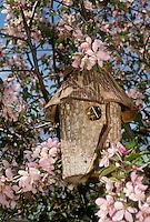 Garden birdhouse as art and bird homes, Missouri USA