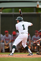 Dartmouth Big Green outfielder Nick Ruppert (1) during a game against the Ball State Cardinals on March 7, 2015 at North Charlotte Regional Park in Port Charlotte, Florida.  Ball State defeated Dartmouth 7-4.  (Mike Janes/Four Seam Images)