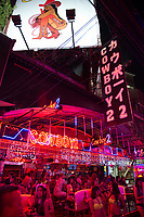 Go-go girls of the Soi Cowboy nightclub in Bangkok night life district