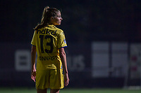 Marie Minnaert (13) of Club Brugge pictured during a female soccer game between Sporting Charleroi and Club Brugge YLA on the sixth matchday in the 2021 - 2022 season of Belgian Scooore Womens Super League , friday 8 October 2021 in Marcinelle , Belgium . PHOTO SPORTPIX | STIJN AUDOOREN