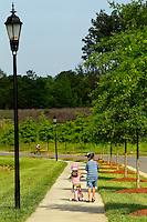 Lifestyle photography of Berewick, a 1,000-acre neighborhood development in Charlotte, NC (Steel Creek Area). Berewick was developed by Pappas Properties.