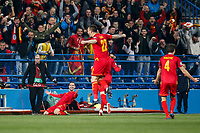 Marko Vesovic of Montenegro celebrates after scoring his side's first goal to make the score 1-0  <br /> Podgorica 25-3-2019 <br /> Football Euro2020 Qualification Montenegro - England <br /> Foto Daniel Chesterton / PHC / Insidefoto <br /> ITALY ONLY