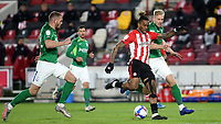 Ivan Toney of Brentford gets ready to take a shot at the Birmingham goal during Brentford vs Birmingham City, Sky Bet EFL Championship Football at the Brentford Community Stadium on 6th April 2021