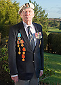 Lieutenant Commander Kenneth Reith, MB Royal Navy, who is campaigning to have the British Government award Arctic Convoy veterans a medal. The medals on the right hand side of his blazer are the medals awarded by the Russians. The small White Star on his left lapel is all that the men received from the British Government for their part in the Arctic Convoys.