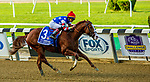 """OCT 02, 2021: Jack Christopher, ridden by Jose Ortiz, wins the """"Win & You're In"""" Gr.1 Champagne Stakes, for 2 year olds, at Belmont Park, Elmont, NY.  Sue Kawczynski/Eclipse Sportswire/CSM"""