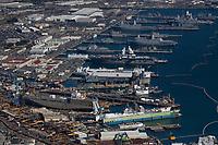 aerial photograph of Naval Base San Diego, National City, California