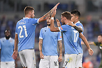 Ciro Immobile of Lazio celebrates after scoring the 2-0 goal<br /> during the Serie A football match between SS Lazio  and Brescia Calcio at stadio Olimpico in Roma (Italy), July 29th, 2020. Play resumes behind closed doors following the outbreak of the coronavirus disease. <br /> Photo Antonietta Baldassarre / Insidefoto