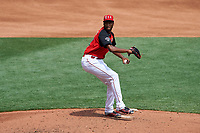 Team USA pitcher Amir Garrett (22) in action during the MLB All-Star Futures Game on July 12, 2015 at Great American Ball Park in Cincinnati, Ohio.  (Mike Janes/Four Seam Images)