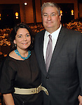 Honorees Carmen and Butch Mach at the Guardian of the Human Spirit Luncheon at the Hilton Americas Hotel Monday Nov. 05,2012.(Dave Rossman photo)