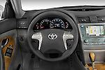 Steering wheel view of a 2008 Toyota Camry XLE