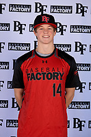 Ty Garrett (14) of Montgomery Central High School in Clarksville, Tennessee during the Baseball Factory All-America Pre-Season Tournament, powered by Under Armour, on January 12, 2018 at Sloan Park Complex in Mesa, Arizona.  (Mike Janes/Four Seam Images)