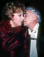 Beverly Sills Leonard Bernstein 1982<br /> Photo By Adam Scull/PHOTOlink.net