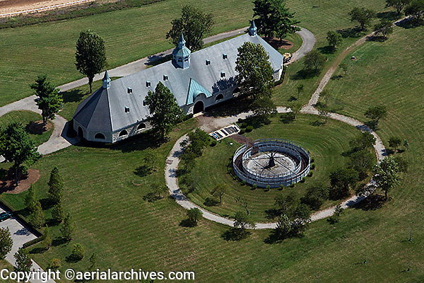 aerial photograph horse farm Lexington, Kentucky