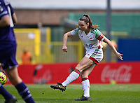 Estee Cattoor (11) of OHL pictured in action during a female soccer game between Oud Heverlee Leuven and RSC Anderlecht on the 2nd matchday of play off 1 in the 2020 - 2021 season of Belgian Womens Super League , saturday 17 th of April 2021  in Heverlee , Belgium . PHOTO SPORTPIX.BE | SPP | DAVID CATRY